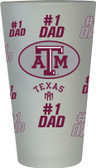 Texas A&M Aggies #1 Dad Pint Glass