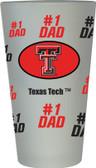 Texas Tech Red Raiders #1 Dad Pint Glass