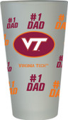 Virginia Tech Hokies #1 Dad Pint Glass
