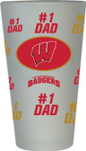Wisconsin Badgers #1 Dad Pint Glass