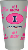 Illinois Fighting Illini #1 Mom Pint Glass