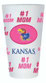 Kansas Jayhawks #1 Mom Pint Glass
