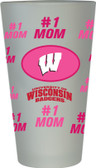 Wisconsin Badgers #1 Mom Pint Glass