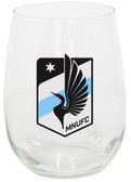 Minnesota United 15oz Stemless Wine Glass