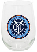 New York City FC 15oz Stemless Wine Glass