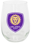 Orlando City SC 15oz Stemless Wine Glass