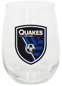 San Jose Earthquakes 15oz Stemless Wine Glass