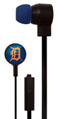 Mizco MLB Detroit Tigers Big Logo black cord earbuds