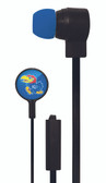 Mizco NCAA Kansas Jayhawks Big Logo black cord earbuds