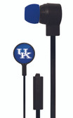 Mizco NCAA Kentucky Wildcats Big Logo black cord earbuds