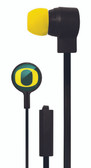 Mizco NCAA Oregon Ducks Big Logo black cord earbuds