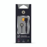 Mizco NHL Boston Bruins Big Logo black cord earbuds