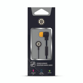 Mizco NHL Boston Bruins Big Logo black cord earbuds