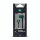 Mizco NHL Dallas Stars Big Logo black cord earbuds