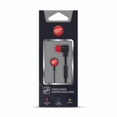 Mizco NHL Detroit Red Wings Big Logo black cord earbuds