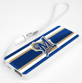 Mizco MLB Milwaukee Brewers 3K Slim Power Bank Powerbar