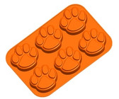 Pawprint Orange Muffin Pan
