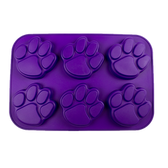 Pawprint Purple Muffin Pan