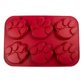 Pawprint Red Muffin Pan