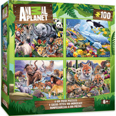 Animal Planet - 4-pack 100pc Puzzles