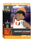 Miami Hurricanes Campus Collection Basketball Minifigure