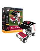 Arizona Diamondbacks Baseball Bullpen Cart 89pc Building Block Set
