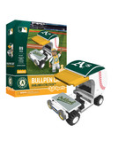 Oakland Athletics Baseball Bullpen Cart 89pc Building Block Set