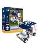 San Diego Padres Baseball Bullpen Cart 89pc Building Block Set