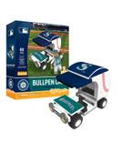 Seattle Mariners Baseball Bullpen Cart 89pc Building Block Set