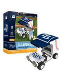 Tampa Bay Rays Baseball Bullpen Cart 89pc Building Block Set