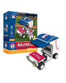 Texas Rangers Baseball Bullpen Cart 89pc Building Block Set