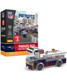 New England Patriots Parade Bus 191 piece Play Set