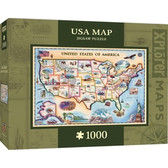 Xplorer Maps - USA Map 1000pc Puzzle
