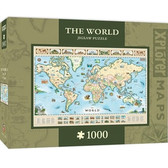 Xplorer Maps - World Map 1000pc Puzzle