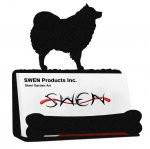 SPITZ SAMOYED / AMERICAN ESKIMO DOG  Business Card Holder