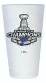 St. Louis Blues 2019 Stanley Cup Champions 16 oz Frosted Pint Glass