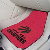 Toronto Raptors 2019 NBA Finals Champions 2-pc Carpet Car Mat Set