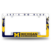 Michigan Wolverines All Over Chrome Frame