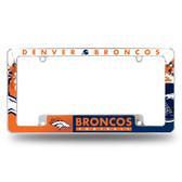 Denver Broncos All Over Chrome Frame