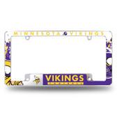 Minnesota Vikings All Over Chrome Frame