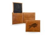Buffalo Bills Laser Engraved Brown Billfold Wallet