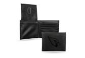 Arizona Cardinals Laser Engraved Black Billfold Wallet