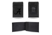 Alabama Crimson Tide Laser Engraved Black Front Pocket Wallet