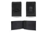 Arkansas Razorbacks Laser Engraved Black Front Pocket Wallet