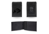 Colorado Buffaloes Laser Engraved Black Front Pocket Wallet