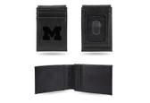 Michigan Wolverines Laser Engraved Black Front Pocket Wallet
