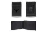 Texas Longhorns Laser Engraved Black Front Pocket Wallet