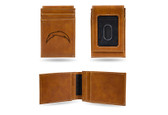 San Diego Chargers Laser Engraved Brown Front Pocket Wallet