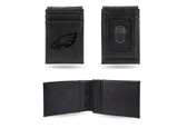 Philadelphia Eagles Laser Engraved Black Front Pocket Wallet