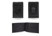 Phoenix Coyotes  Laser Engraved Black Front Pocket Wallet